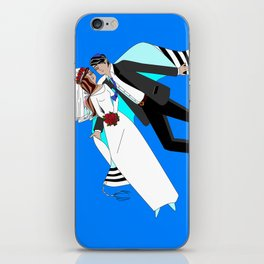 The Dreaming Bridegroom and Bride in Love iPhone Skin