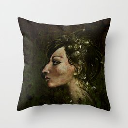 The Bride of Glass Blossoms Throw Pillow