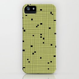 Light Green and Black Grid - Missing Pieces iPhone Case