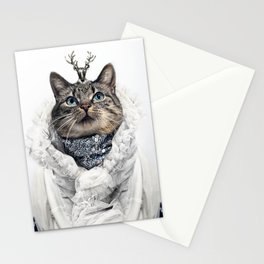 White Cat Queen Stationery Cards