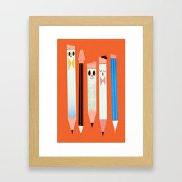 I love pencils Framed Art Print