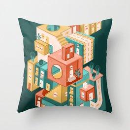 Block Tower Throw Pillow