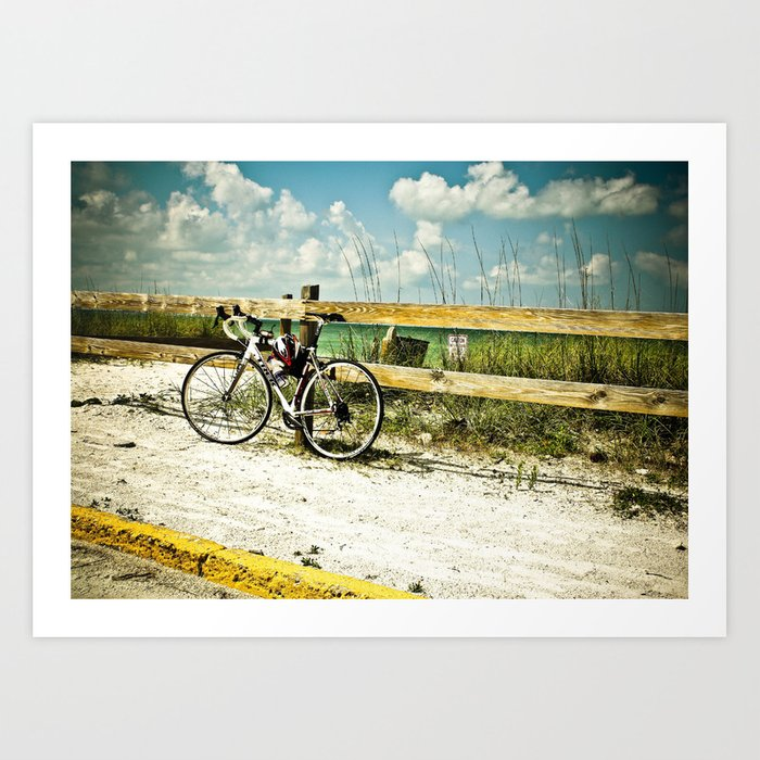 Bicycle On Beach Art Print