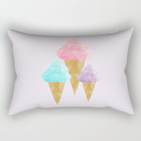 Geometric Ice Cream Rectangular Pillow