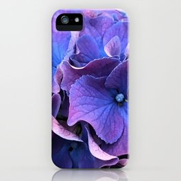 Fairy Tale Magical Periwinkle Teal and Purple Flowers iPhone Case