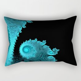 Black Ice - Fractal Art Rectangular Pillow