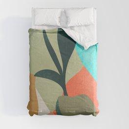 Colorful foliage abstract art #art print#society6 Comforters