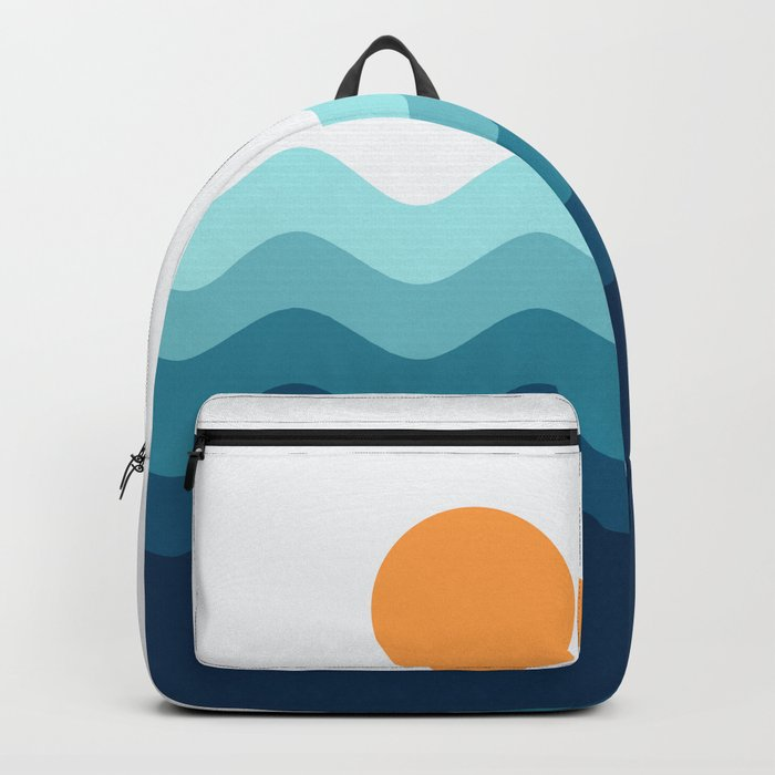 Abstract Landcape 14 Portrait Backpack