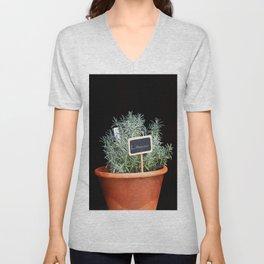 Lavender Plant Unisex V-Neck