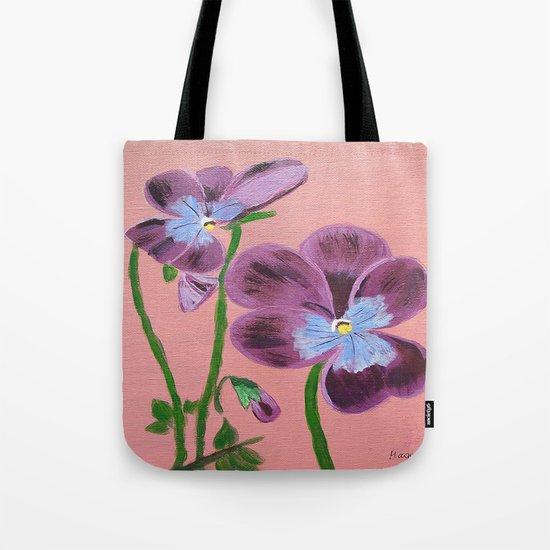 Purple pensies  Tote Bag