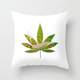 Weed Joint Throw Pillow