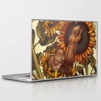 autumn Laptop & iPad Skins featuring Autumn by Kate O'Hara Illustration