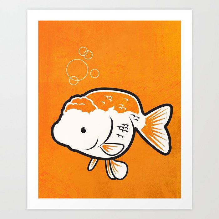 Ranchu Goldfish Art Print by cb72