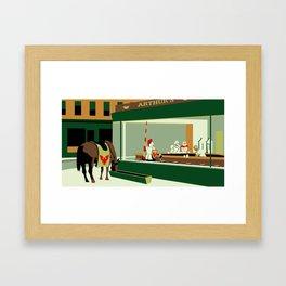 Knight Hawks Framed Art Print