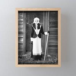 Colonial Girl Framed Mini Art Print