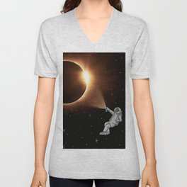 Crea tu propio eclipse Unisex V-Neck