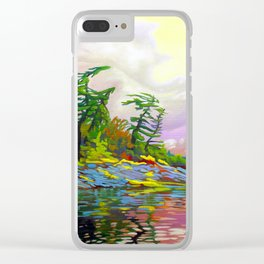 Wind Sculpture by Amanda Martinson Clear iPhone Case