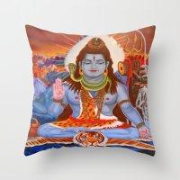 shiva Throw Pillows featuring Shiva by Antonimo-discipulosinmaestro