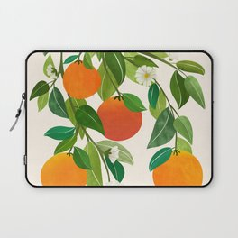 Oranges and Blossoms II / Tropical Fruit Illustration Laptop Sleeve