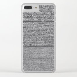 The Rosetta Stone // Charcoal Clear iPhone Case