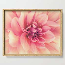 Her Smile (Spring Blooming Rose Pink Dahlia) Serving Tray