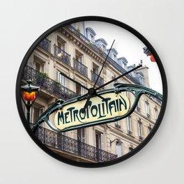 Metropolitain in Paris Wall Clock