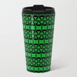 Dividers 02 in Green over Black Travel Mug