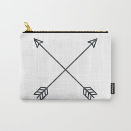 Black Arrows on White Paper Carry-All Pouch
