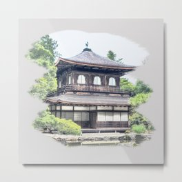 ginkaku ji temple japan Metal Print