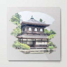 ginkaku ji temple japan Metal Print