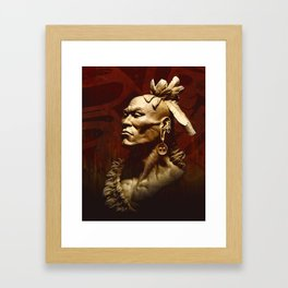 First Peoples Power - Woodland -red Framed Art Print