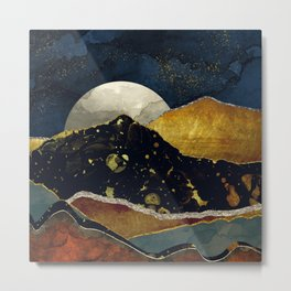 Bronze Night Metal Print