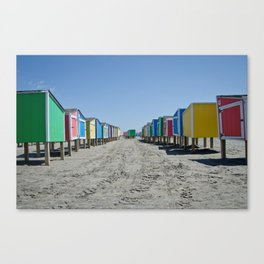 Beach Lockers Canvas Print