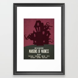 Mansions of Madness - Minimalist Board Games 04 Framed Art Print