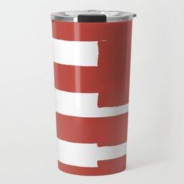Big Stripes In Red Travel Mug