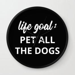 The Dog Lover II Wall Clock