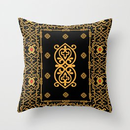 pattern of the past 1 Throw Pillow