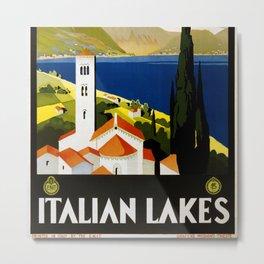 Italian Lakes Metal Print