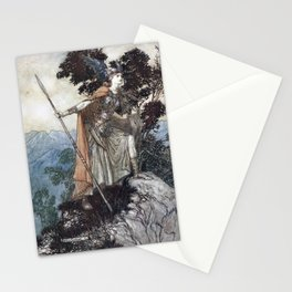Arthur Rackham - Wagner's The Rhinegold & the Valkyries (1910) - Brünnhilde Stationery Cards