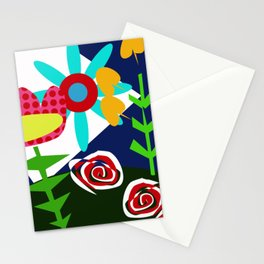 flowers and plant naif Stationery Cards