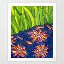 Flowers Float by Ladybug Grass by melasdesign