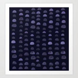 Hills - Navy Art Print