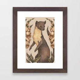 The Marten and Foxglove Framed Art Print