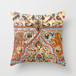 old motives / colorful / Armenian  Throw Pillow