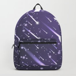 Flying meteors. Ultra violet. Backpack