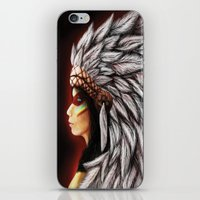 native american iPhone & iPod Skins featuring Native by PanDuhVka