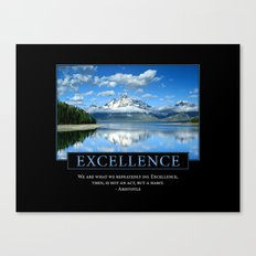 Excellence Poster: Aristotle Quote Canvas Print