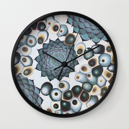Ombre Succulents Wall Clock