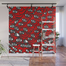 Freddie Eyeballs Red Wall Mural