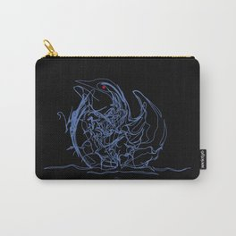 Swan 1. Light blue on Black background-(Red eyes series) Carry-All Pouch